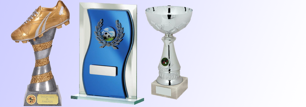 Football and sporting trophies