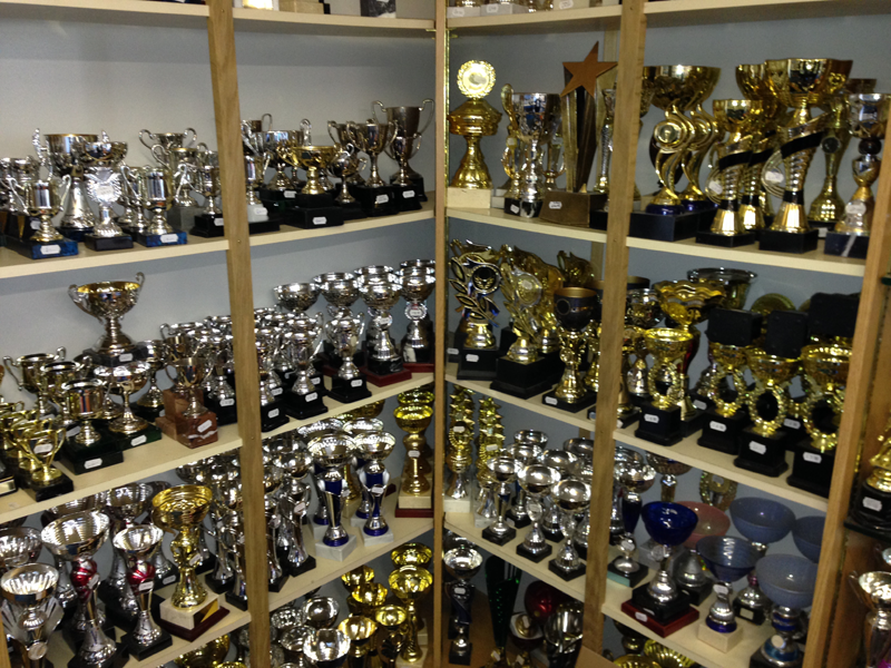 Trophy stock, lots of choice at Witney Trophy Centre.