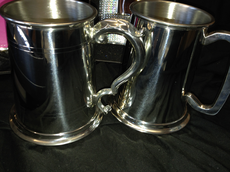 Tankards come boxed and can be engraved